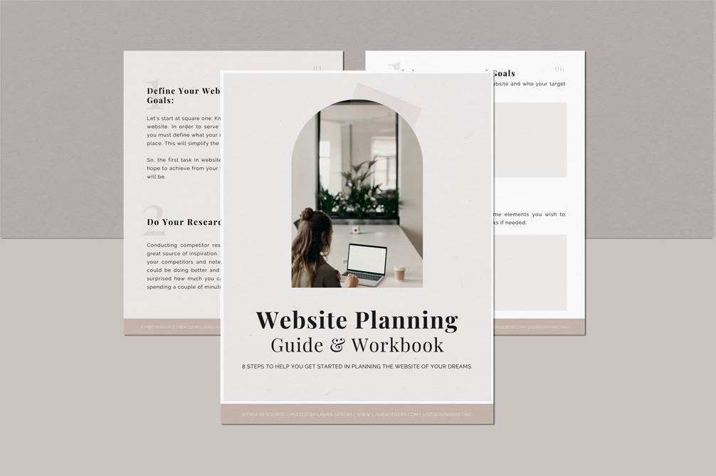 Freebie - Website Planning Guide & Workbook