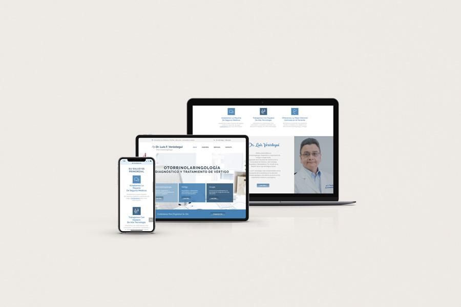 Dr. Luis F. Verastegui Website Design