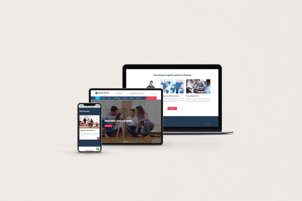 Panama Moving Solutions Website Design