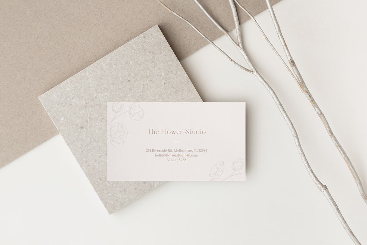 The Flower Studio - Business Card Design