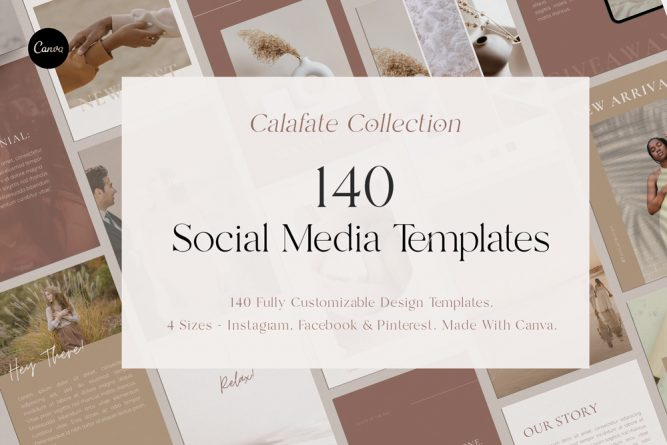 Social Media Template Pack - Calafate Collection.