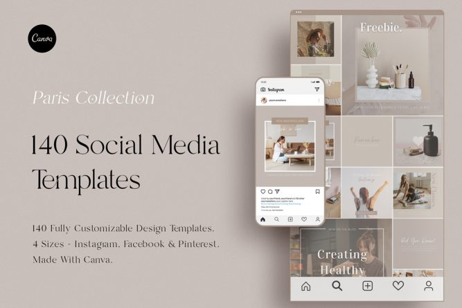 Social Media Template Pack - Paris Collection